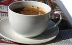 kawa w barze Dixi